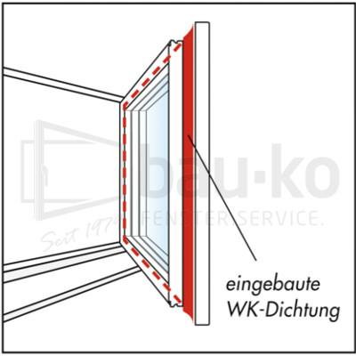 eingebaute WK-Dichtung technisches Schaubild